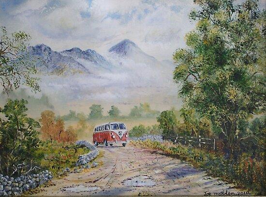 Road to Croagh Patrick. by Joe Trodden