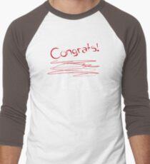 congrats leo! Men's Baseball ¾ T-Shirt