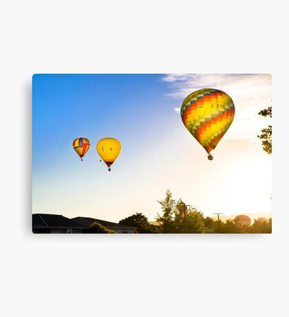 Hot Air Balloons at Sunrise over Martinborough, NZ Canvas Print