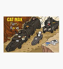 Cat Max: Furry Road Photographic Print