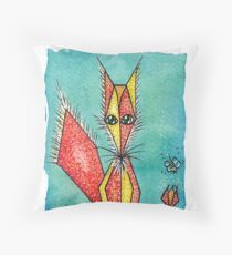 Old fox Throw Pillow