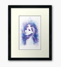 SMG Watercolor Portrait Framed Print