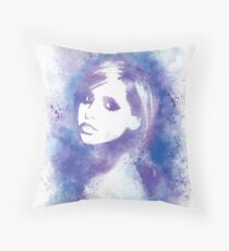 SMG Watercolor Portrait Throw Pillow