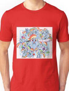 Every Rainbow Dash EVER Unisex T-Shirt