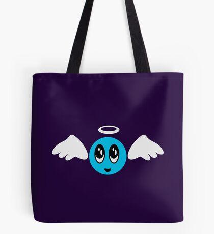 Angel Smiley (blue) VRS2 Tote Bag