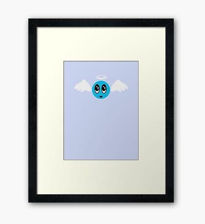 Angel Smiley (blue) VRS2 Framed Print
