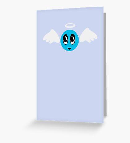 Angel Smiley (blue) VRS2 Greeting Card