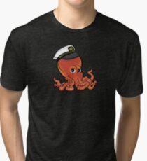 Captain Octopus Tri-blend T-Shirt