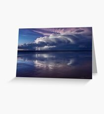 Cable Beach Lightning Greeting Card