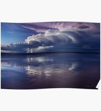 Cable Beach Lightning Poster