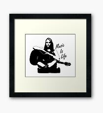 Music Is Life Framed Print