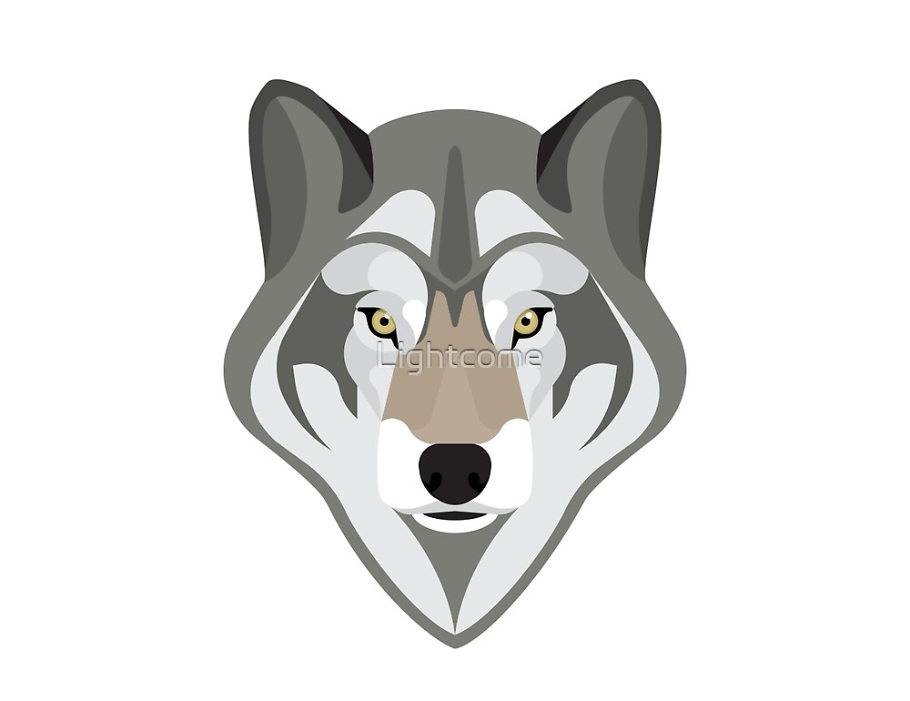 Graphic grey wolf by Lightcome