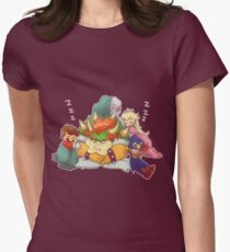 Bowser Mario Mallow Peach and Geno Womens Fitted T-Shirt