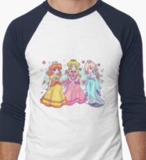 Princess Peach, Daisy and Rosalina Men's Baseball ¾ T-Shirt