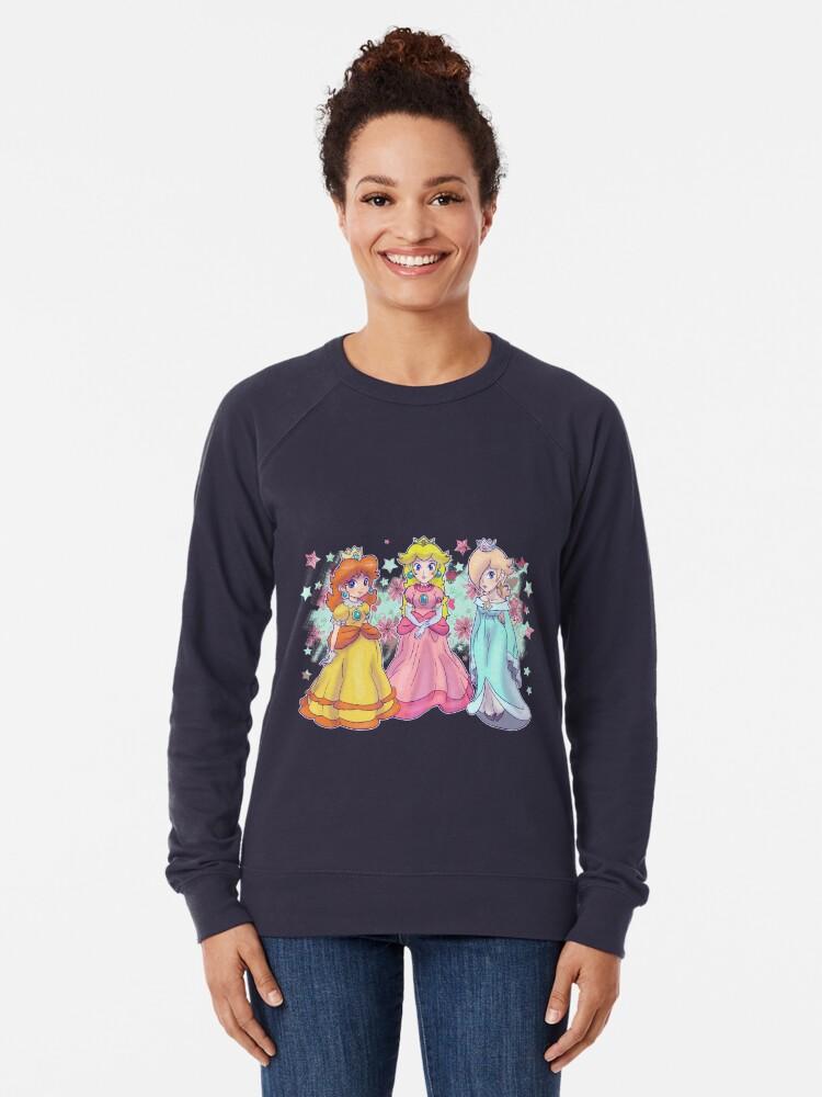 Alternative Ansicht von Prinzessin Peach, Daisy und Rosalina Leichtes Sweatshirt