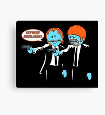 Mr. Meeseeks - Pulp Fiction parody Canvas Print
