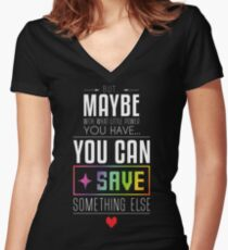 Maybe you can SAVE something else Women's Fitted V-Neck T-Shirt
