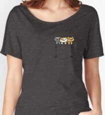 Neko Atsume Pocketed Women's Relaxed Fit T-Shirt