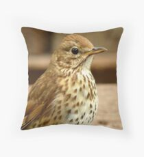I'm As Beautiful As My Song Is..! - Song Thrush - NZ Throw Pillow