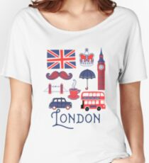 London Icons Women's Relaxed Fit T-Shirt