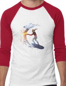 Surfing during sunset Men's Baseball ¾ T-Shirt