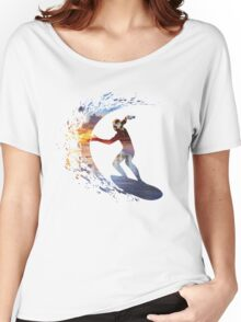 Surfing during sunset Women's Relaxed Fit T-Shirt