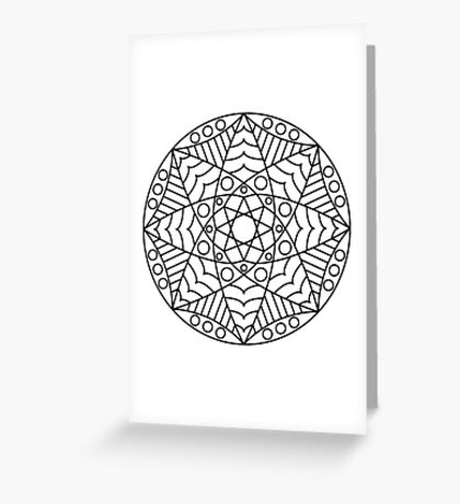 Stained Glass Mandala Greeting Card