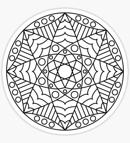 Stained Glass Mandala Sticker