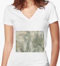 wild grass 30 Women's Fitted V-Neck T-Shirt