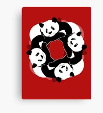PANDA PLAY Canvas Print