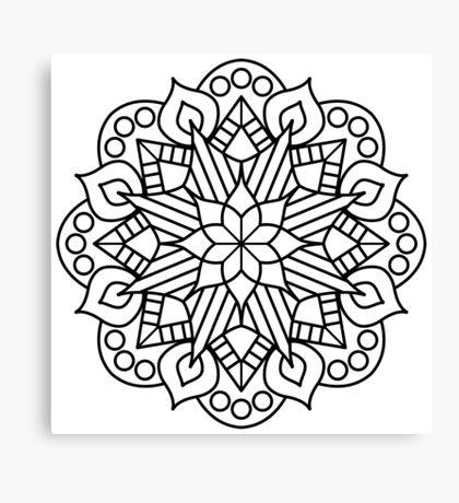 Flower and Flame Mandala Canvas Print