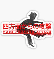 Four Pronged Attack Sticker