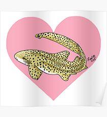 Zebra Shark Heart Poster