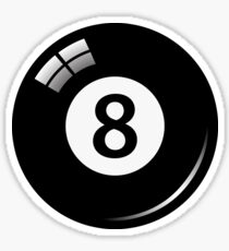 Black pool/billiard ball number 8 Sticker