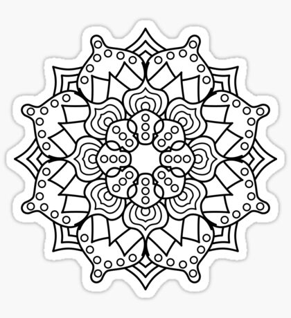 Hypno-Mandala Sticker