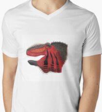 Fancy Tyrannosaurus Mens V-Neck T-Shirt