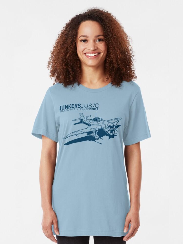 Alternate view of Stuka Tank Buster Slim Fit T-Shirt