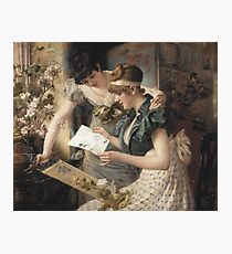 Gampenrieder, Karl - The Amusing Letter  (German, ), kingdom,queen,woman Photographic Print