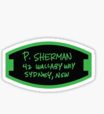 Pegatina P. Sherman 42 Wallaby Way Sydney, NSW