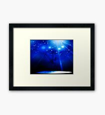 Deep Blue Space Framed Print