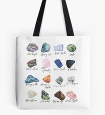 Watercolor gemstones geology print Tote Bag