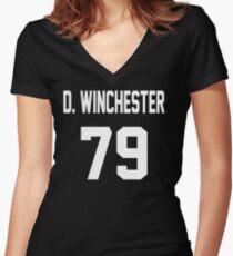 Supernatural Jersey (Dean Winchester) Women's Fitted V-Neck T-Shirt