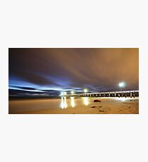 Grange Jetty: A cool windy March night Photographic Print