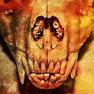 Raccoon Skull With Western Filter by Shelly Still