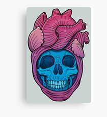 Skull Heart Canvas Print