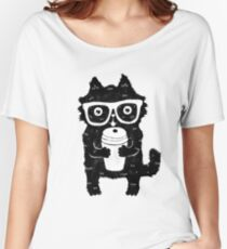 Coffee Cat Women's Relaxed Fit T-Shirt