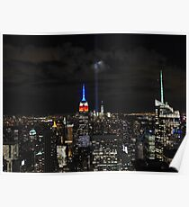 New York 9/11 Tribute from Top of the Rock, September 11th 2015 Poster