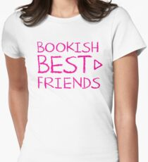 BOOKISH BEST FRIENDS pink matching with arrow right Womens Fitted T-Shirt