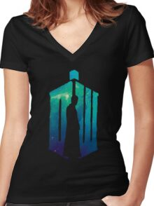 Dr Who - 10th  Women's Fitted V-Neck T-Shirt