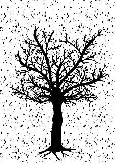 Black and White Tree by IvonaVargek